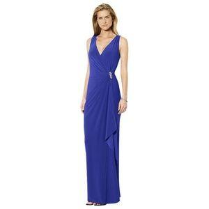 Ralph Lauren 12P Blue Long Dress Wrap Brooch